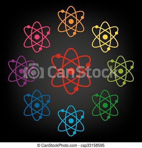 Atom icon set - csp33158595