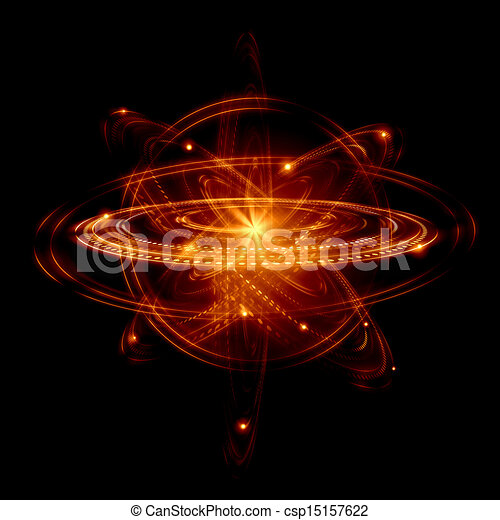 atom image image of color atoms and electrons physics