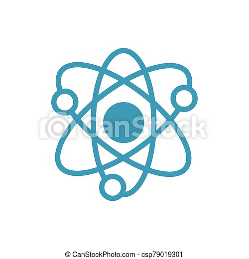 atom medical symbol line icon - csp79019301