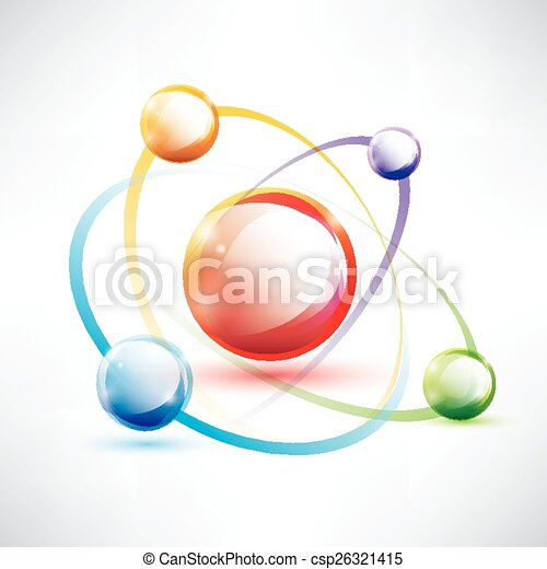 Atom structure abstract glossy icon science and energy vector atom structure abstract glossy icon science and energy concept csp26321415 ccuart Image collections