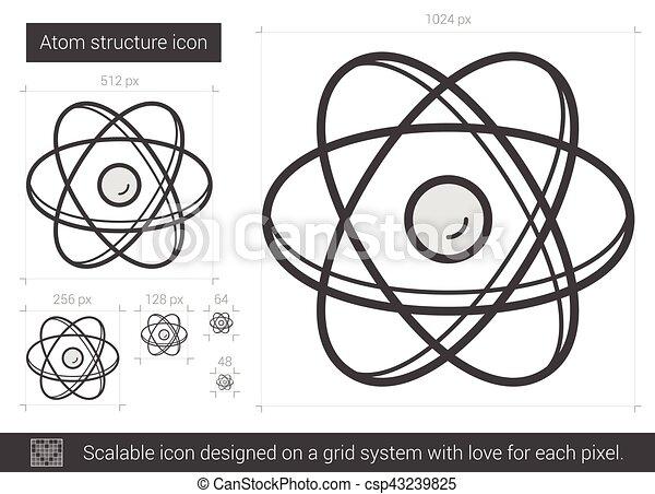 Atom structure line icon atom structure vector line icon vector vector atom structure line icon csp43239825 ccuart Images
