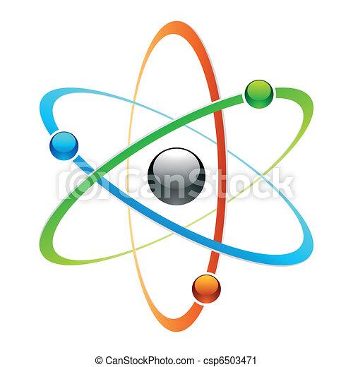 Atom Symbol Vector Illustration Of An