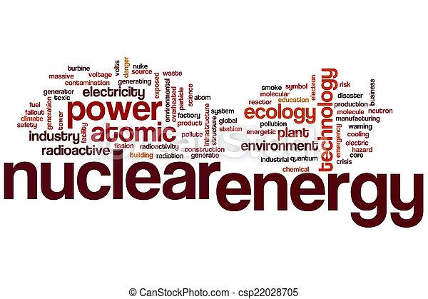 atomenergie, wort, wolke - csp22028705