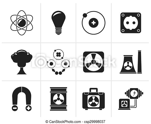 Atomic and Nuclear Energy Icons - csp29998037