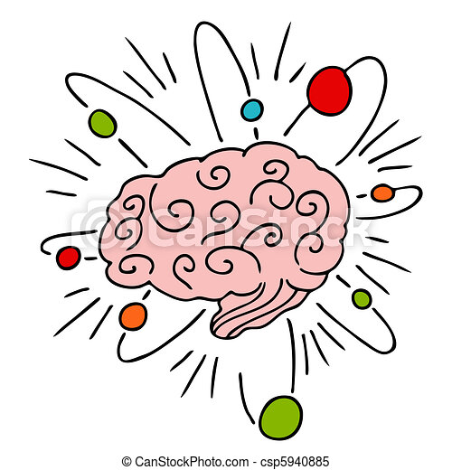 atomic brain power an image of a human brain with atomic clipart rh canstockphoto com clipart mind map mind clipart gif
