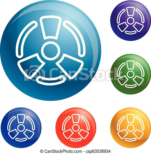 Atomic energy icons set vector - csp63538934