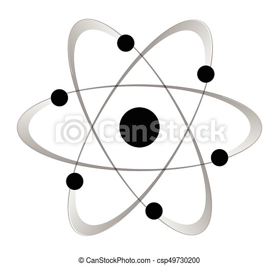 Atomic mass structure 6 abstract atom with six orbiting vector atomic mass structure 6 csp49730200 ccuart Image collections