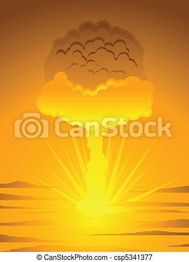 Atomic mushroom cloud - csp5341377