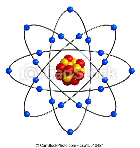Atomic Structure 3d Render Of Abstract