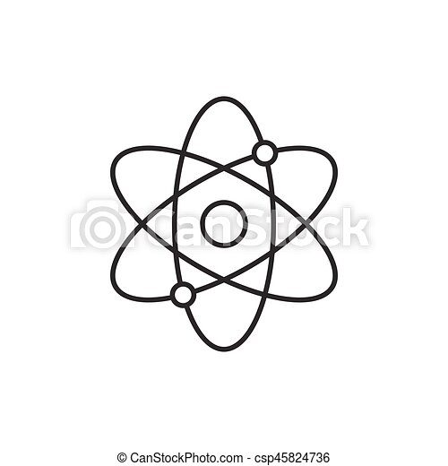Atomic structure line icon on white background vectors search clip atomic structure line icon csp45824736 ccuart Image collections