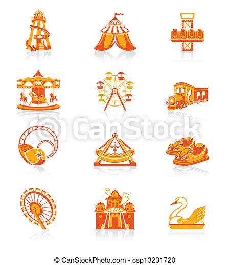 atração, |, ícones, suculento, série - csp13231720