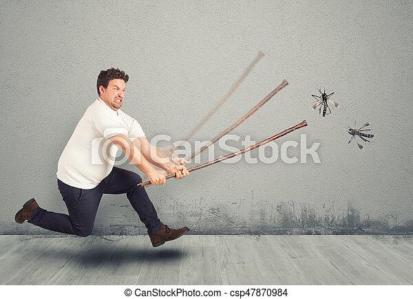 attaque, moustiques - csp47870984