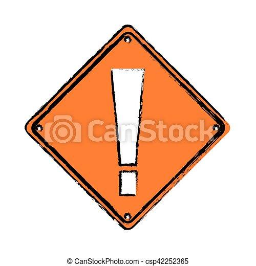 Dessin Panneau Attention attention, alerte, panneau avertissement, dessin, icône. 10