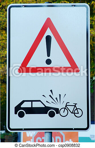 attention danger of accident - csp0908832