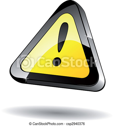 attention, icône - csp2940376