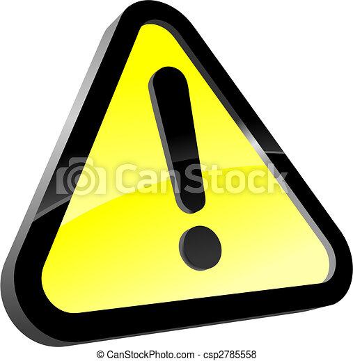 attention, icône - csp2785558