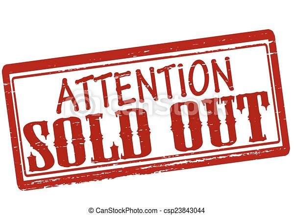 Attention sold out - csp23843044