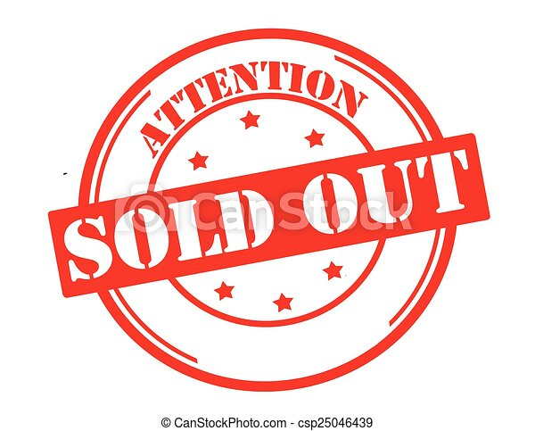 Attention sold out - csp25046439