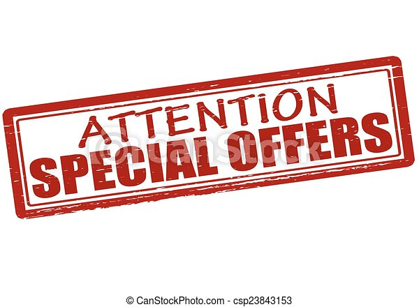 Attention special offers - csp23843153