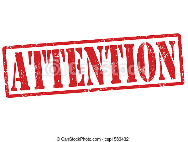 Attention stamp - csp15834321