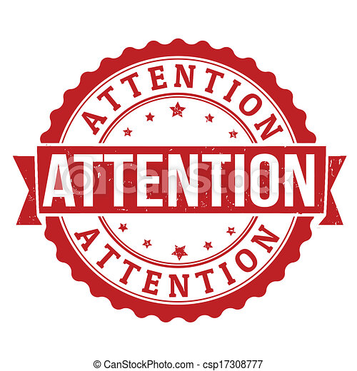 Attention stamp. Attention grunge rubber stamp on white ...