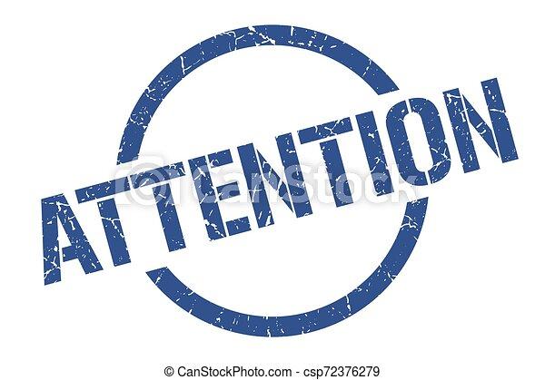 attention stamp - csp72376279