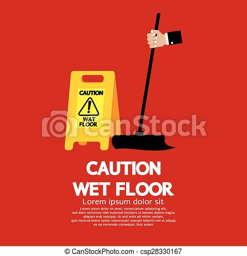 attenzione, floor., bagnato - csp28330167