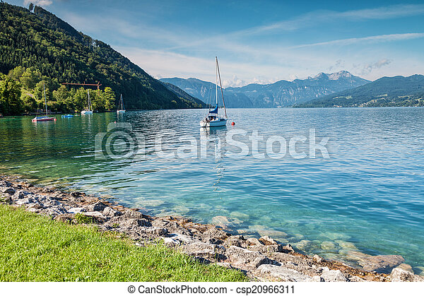 Attersee lake in Austria - csp20966311