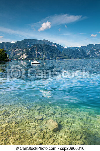 Attersee lake in Austria - csp20966316