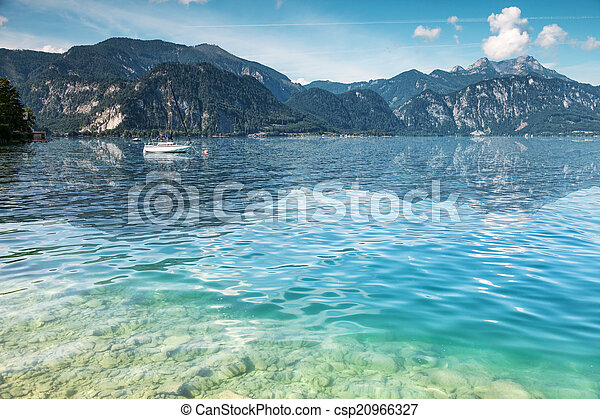 Attersee lake in Austria - csp20966327