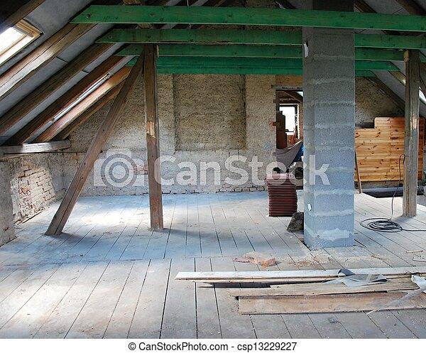 Attic construction - csp13229227
