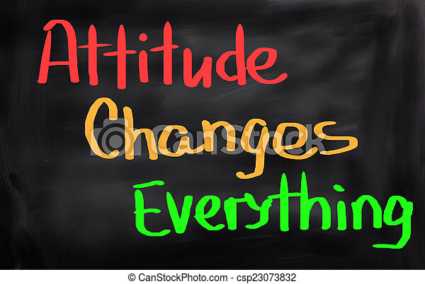 Attitude Changes Everything Concept - csp23073832