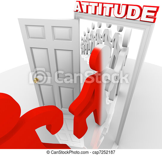 Attitude Changes People for Success and Achievement - csp7252187