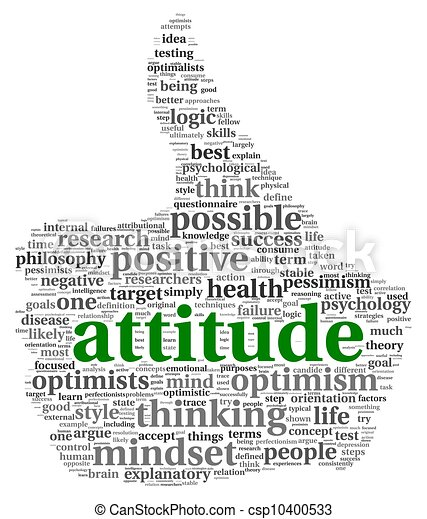 Attitude concept in tag cloud - csp10400533