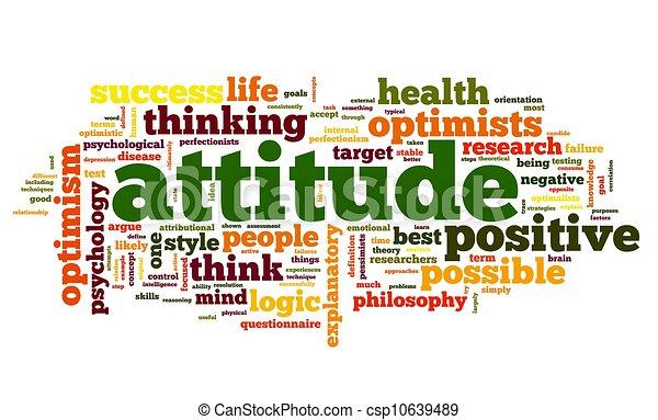 Attitude concept in tag cloud - csp10639489