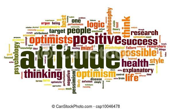 Attitude concept in tag cloud - csp10046478