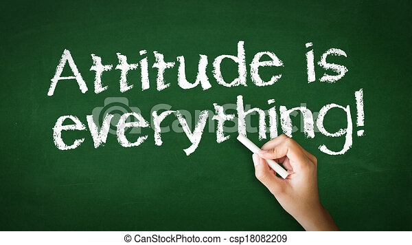 Attitude is everything Chalk Illustration - csp18082209