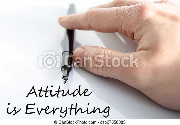 Attitude is Everything Concept - csp27558885