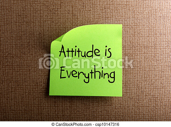 Attitude is Everything - csp10147316