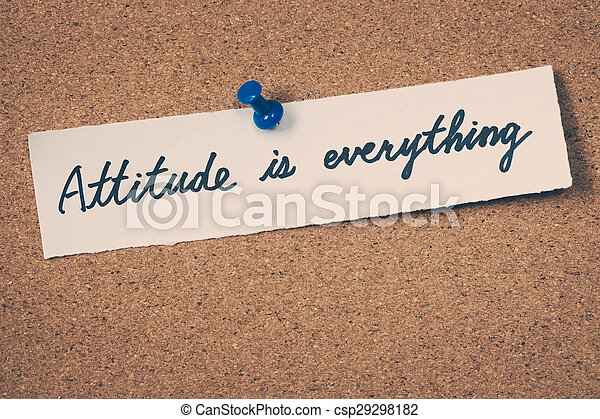 Attitude is everything - csp29298182
