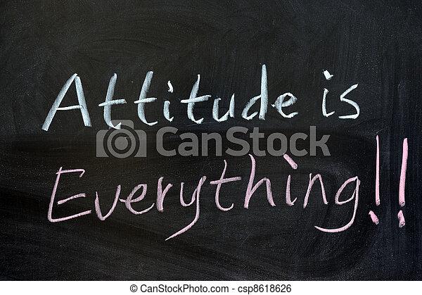 Attitude is everything - csp8618626