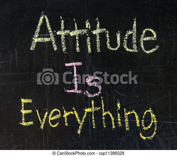 Attitude is everything - csp11386528