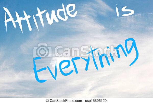 Attitude is Everything - csp15896120