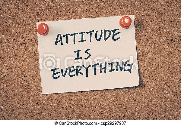 Attitude is everything - csp29297907