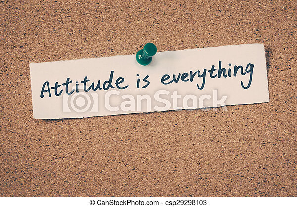 Attitude is everything - csp29298103