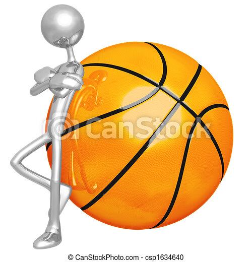 Attitude Lean Basketball - csp1634640