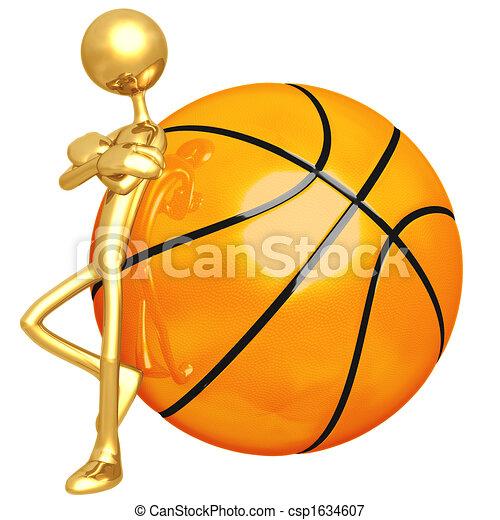 Attitude Lean Basketball - csp1634607
