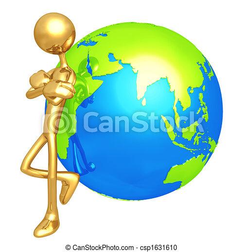 Attitude Lean World - csp1631610