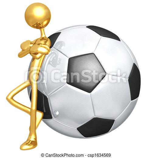 Attitude Soccer Football - csp1634569