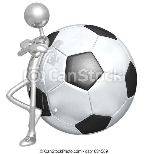 Attitude Soccer Football - csp1634589